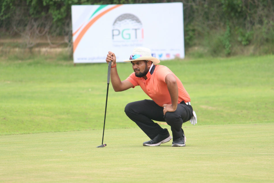 Patnas Aman Raj turned in a card of 8-under-62 to secure a lead on the penultimate day