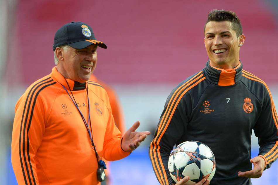 Juventus V Napoli Cristiano Ronaldo Carlo Ancelotti Serie A
