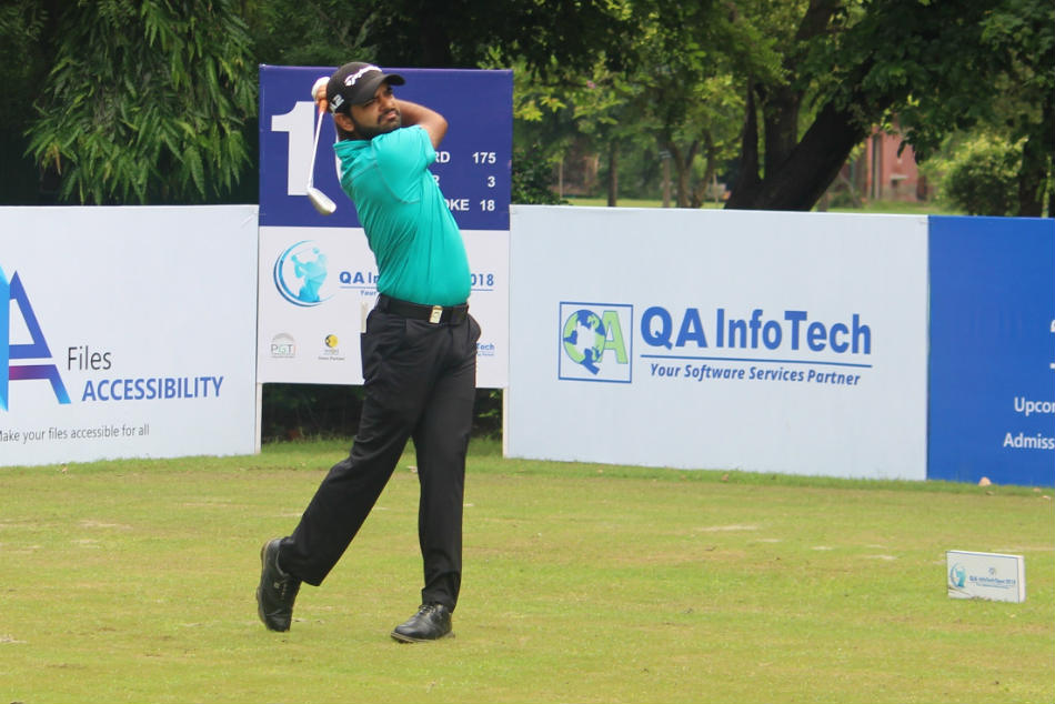 Chiragh Kumar cemented his place on top of the leaderboard with a score of three-under-69