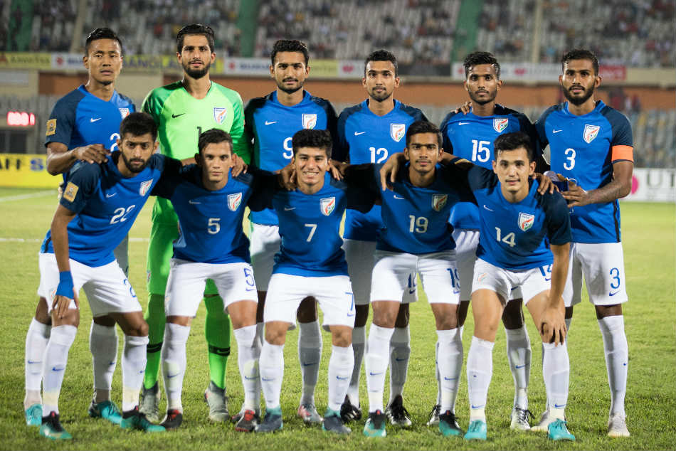 Indias Starting XI against Maldives during their SAFF Cup 2018 final in Dhaka