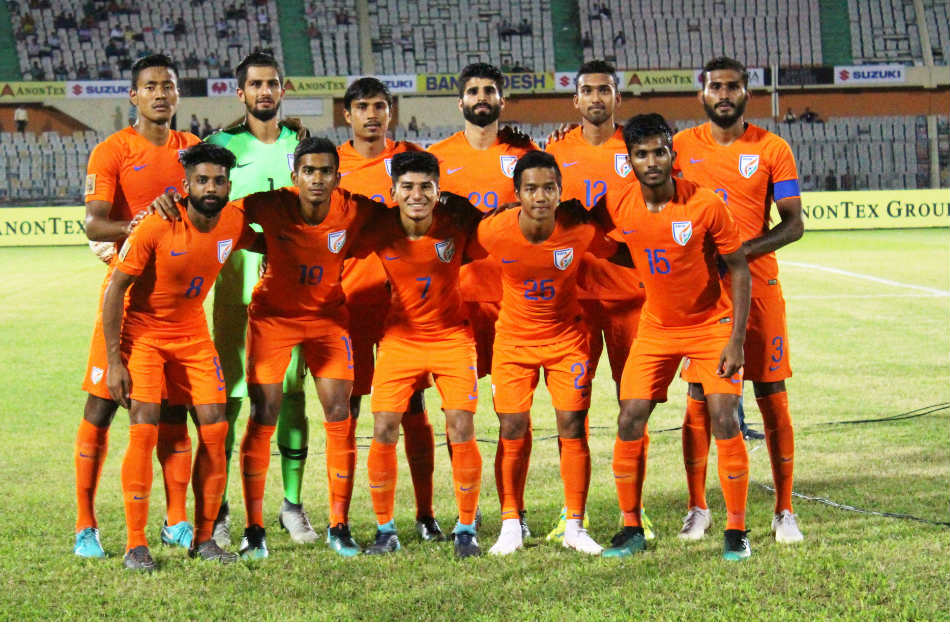 Indias squad against Sri Lanka in the SAFF Cup 2018 match (Image: AIFF Media)