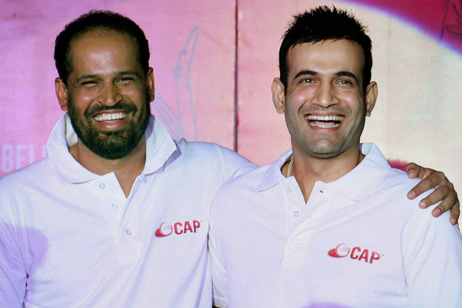 Irfan Pathan (right) was man of the final while Yusuf Pathan played just the final
