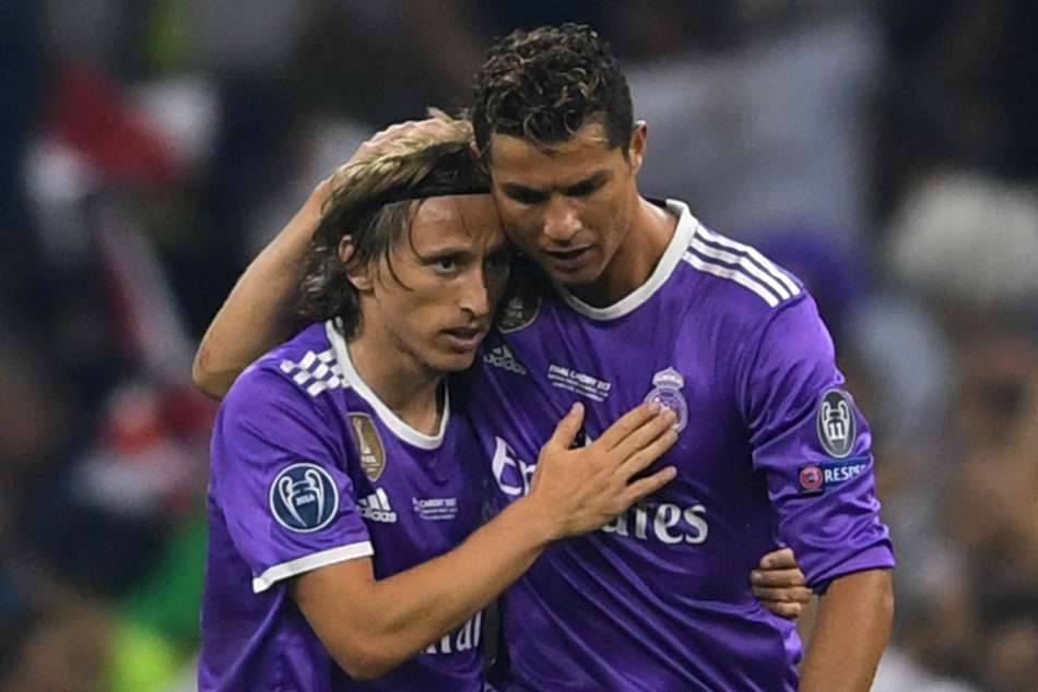 Luka Modric Cristiano Ronaldo Uefa Player Of The Year