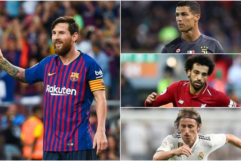 Lionel Messi The Best Cristiano Ronaldo Mohamed Salah Luka Modric Fifa Barcelona