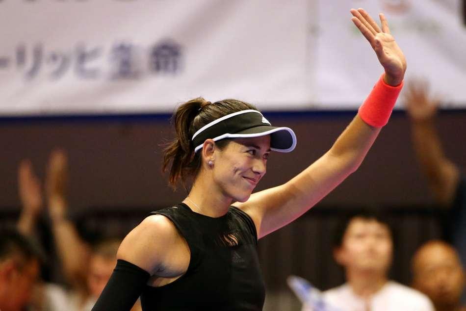 Garbine Muguruza Belinda Bencic Test Tokyo Open
