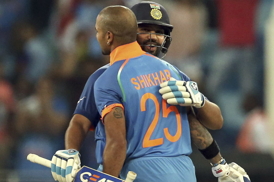 Rohit Sharma Shikhar Dhawan Centuries India Beat Pakistan Asia Cup