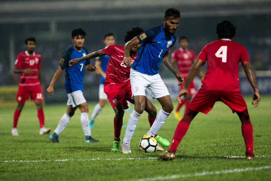 India lost 1-2 to Maldives in the final of the SAFF Suzuki Cup. Credit: AIFF