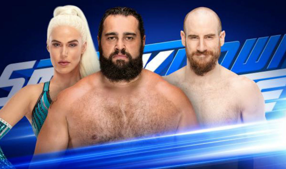 Rusev (center) will look for answers from Aiden English (Image Courtesy: WWE.com)