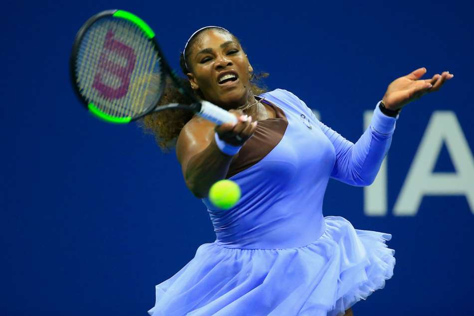 Serena Williams in action at Flushing Meadows