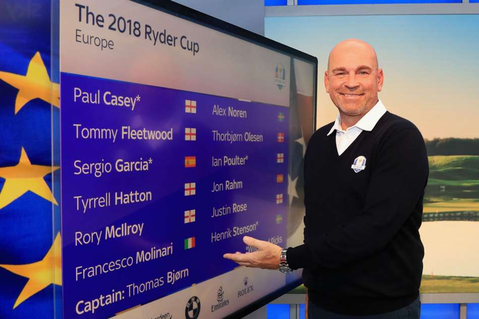Ryder Cup 2018 Team Europe Profile