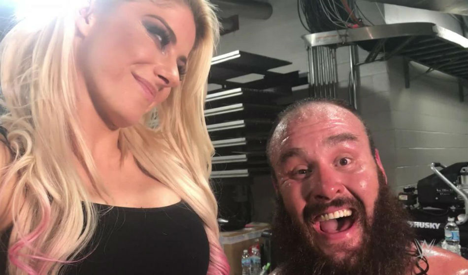 Alexa Bliss & Braun Strowman competing on MMC opening night (image courtesy Youtube)