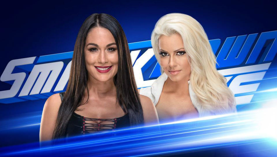 Brie Bella (left) vs. Maryse on Smackdown (image courtesy WWE.com)