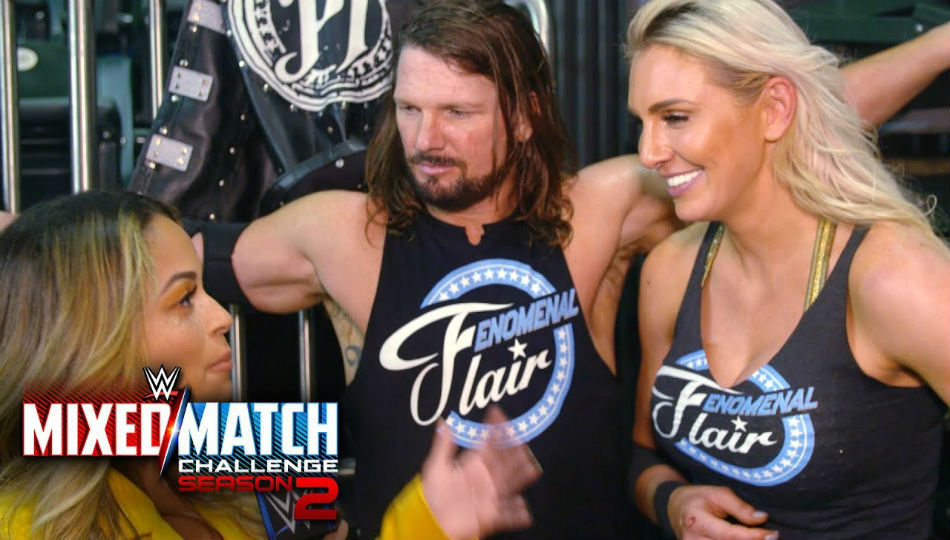 AJ Styles & Charlotte Flair (right) (courtesy Youtube)