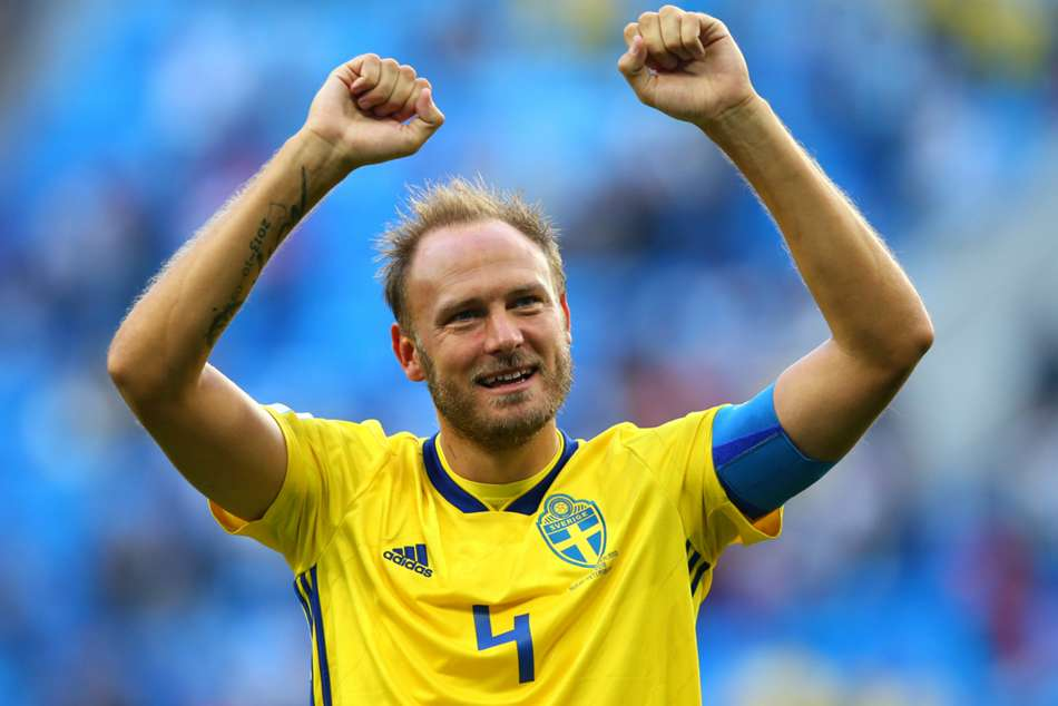 Sweden captain Andreas Granqvist