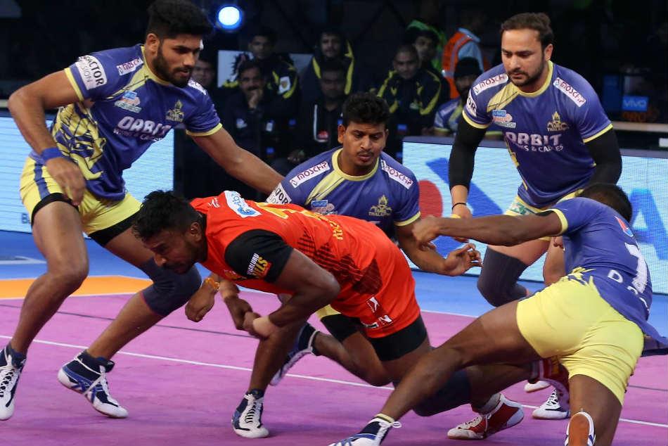 Pkl 2018 Adake Sehrawat Power Bengaluru Bulls Over Tamil Thalaivas