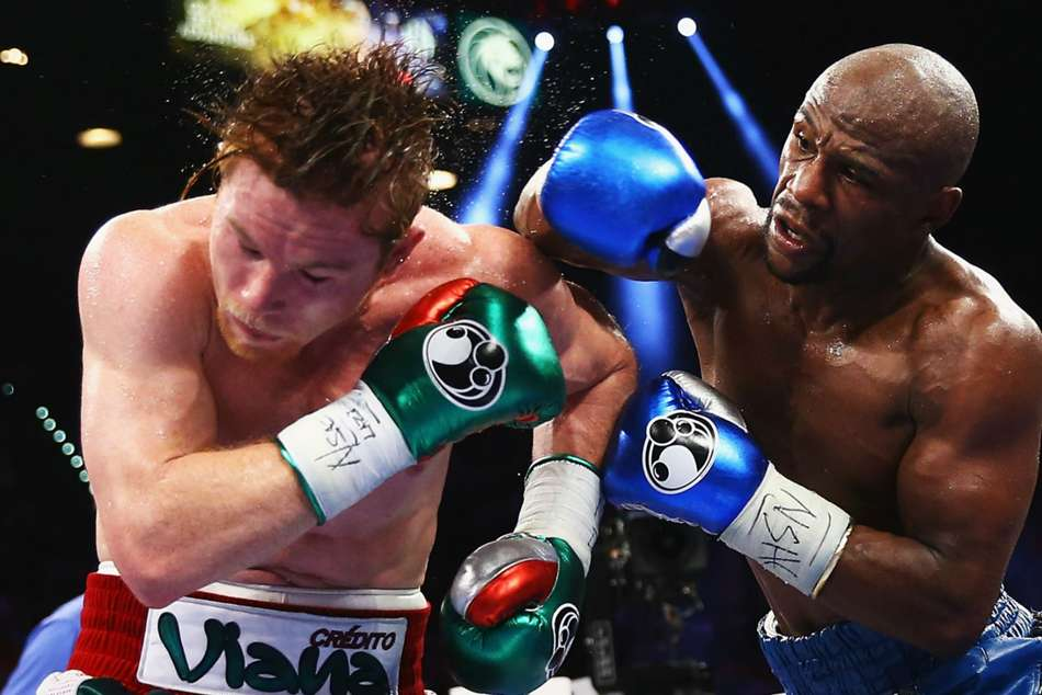Canelo met Mayweather in 2013
