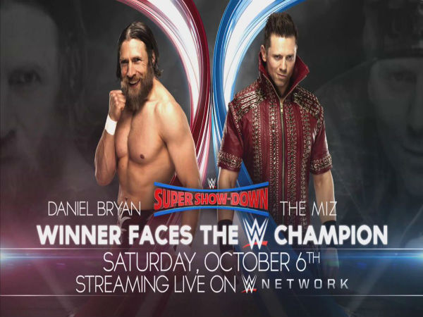 NO.1 Contenders Match For WWE Title: Daniel Bryan vs The Miz
