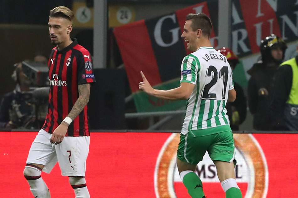 Europa League Ac Milan Real Betis Lo Celso Excels Gattuso Uncertain Ground