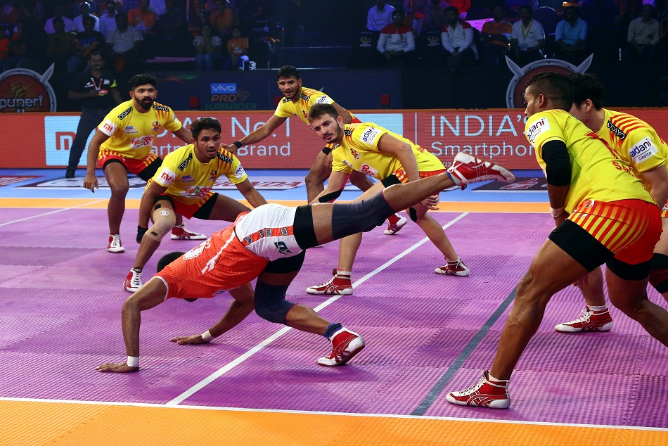 Pkl 2018 Gujarat Fortunegiants Beat Puneri Paltan