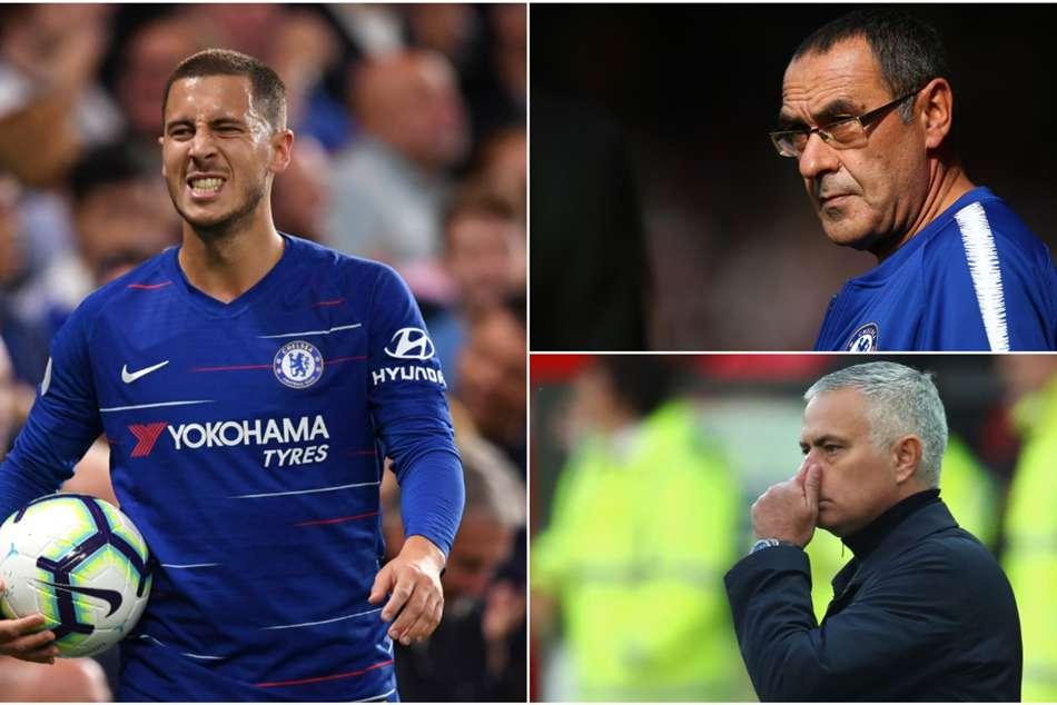 Chelsea Manchester United Eden Hazard Better Maurizio Sarri Jose Mourinho
