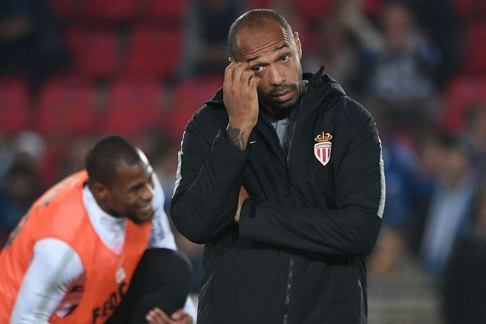 AS Monaco head coach Thierry Henry