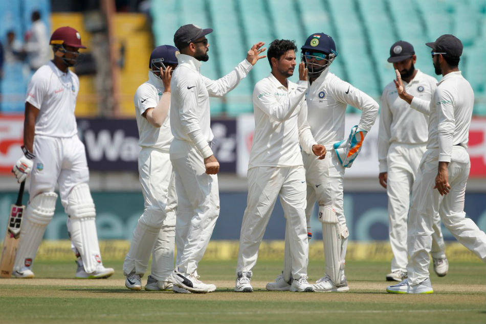 Kuldeep Yadav earned his first five-wicket haul in Test cricket