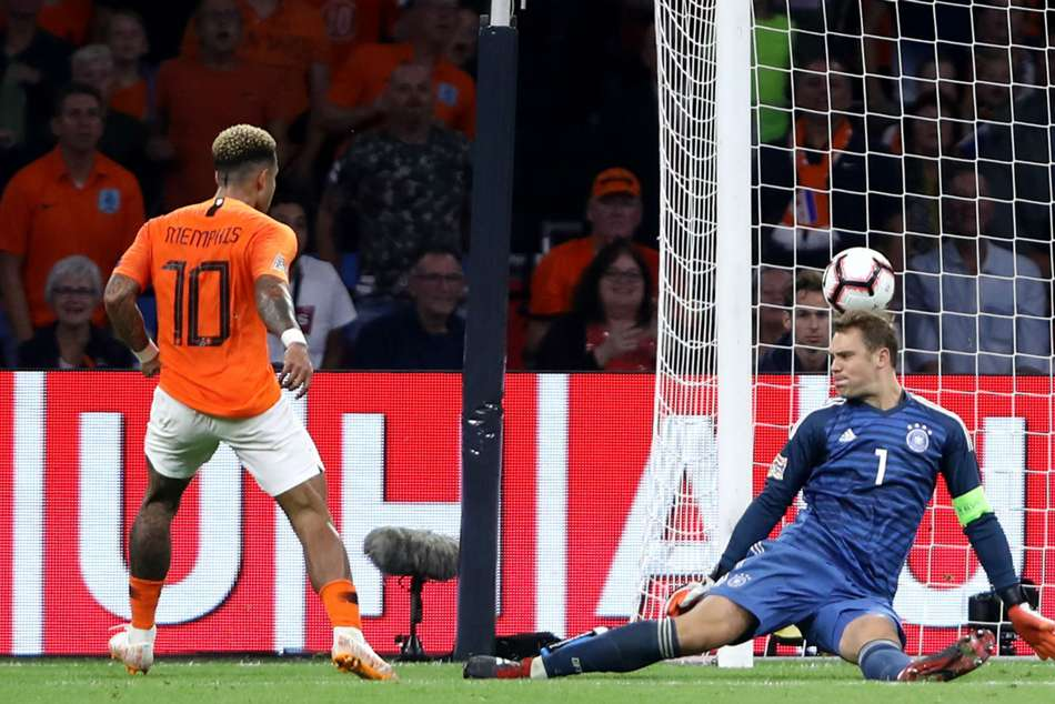 Netherlands 3 Germany 0 Match Report Nations League Van Dijk Memphis Depay Wijnaldum Goals