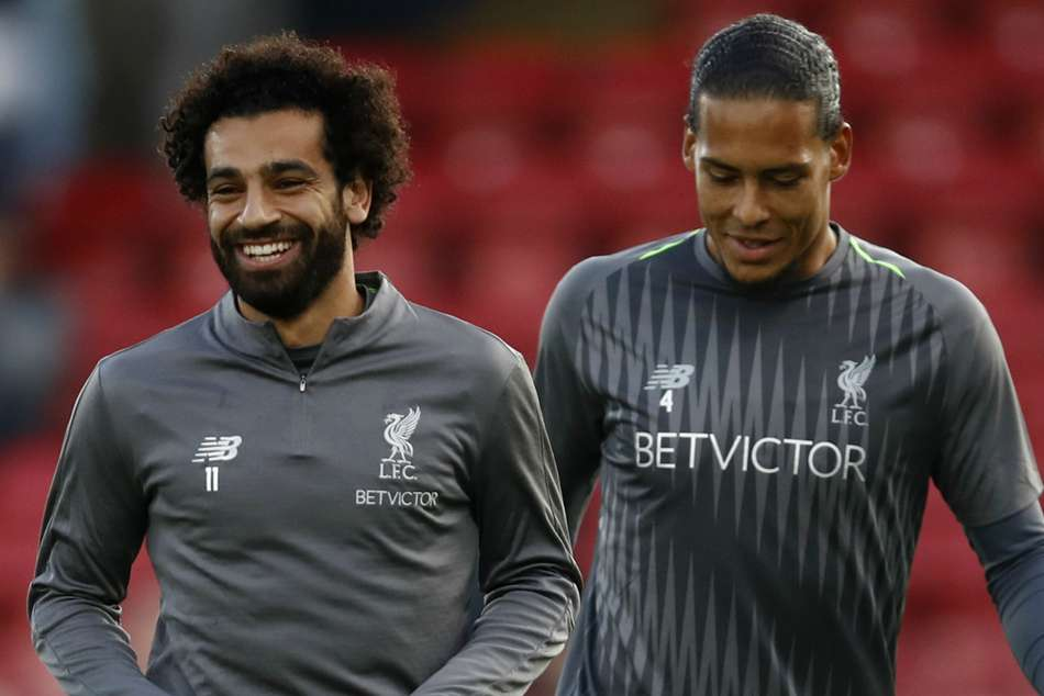 Mohamed Salah and Virgil van Dijk back in Liverpool training