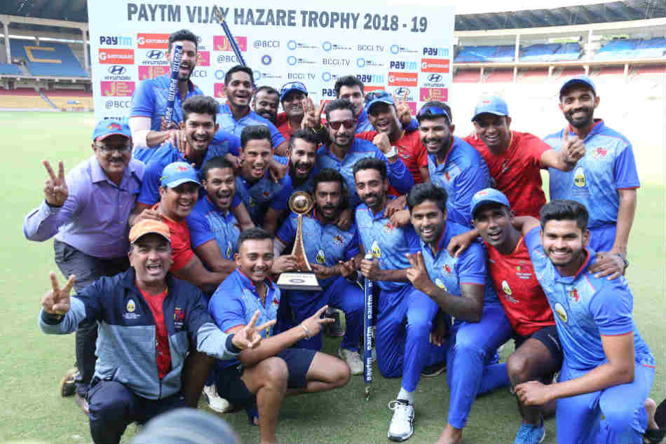 Mumbai beat Delhi by four wickets to bag the Vijay Hazare Trophy
