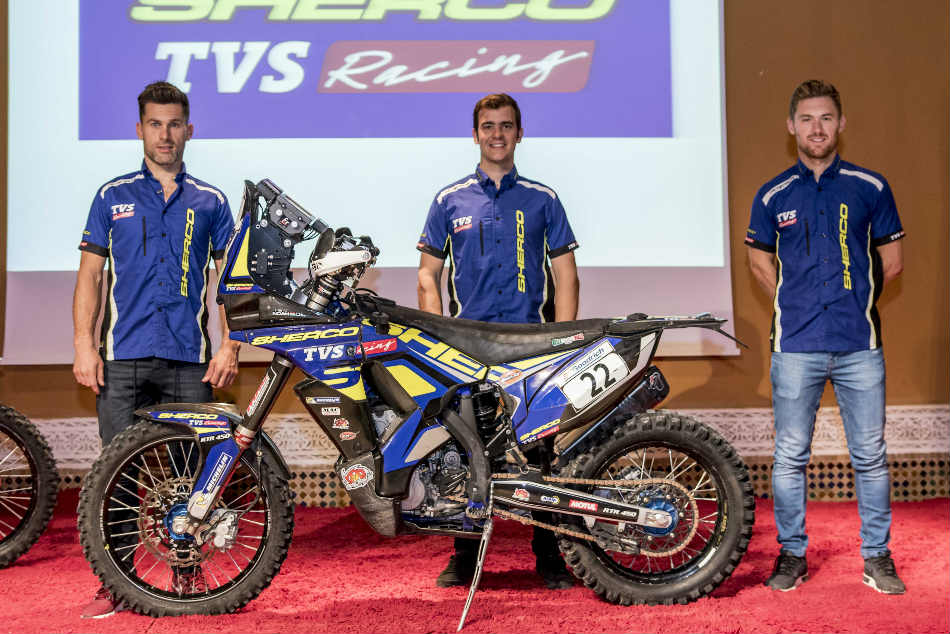 Sherco Tvs Rally Factory Team Announces 4 Rider Squad Dakar