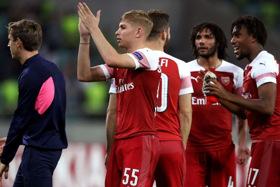 Emile Smith Rowe scored first competitive goal for Arsenal
