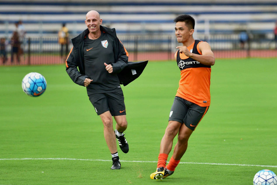 India coach Stephen Constantine with skipper Sunil Chhetri