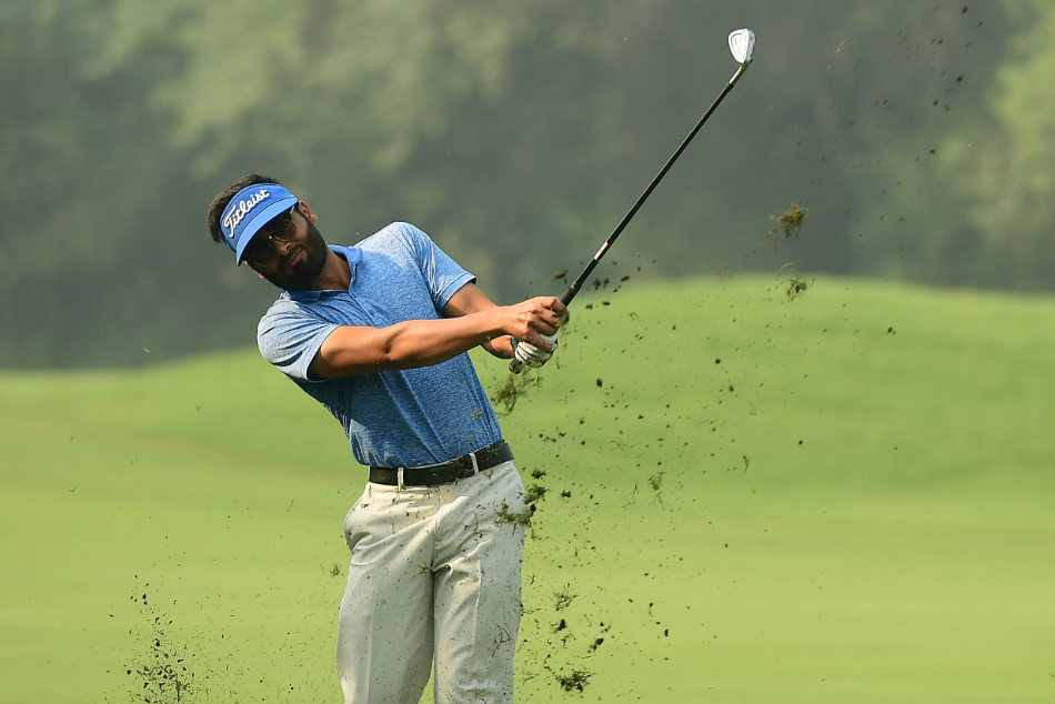 Tapy Ghai in action at the Delhi Golf Club on Thursday. Credit: PGTI
