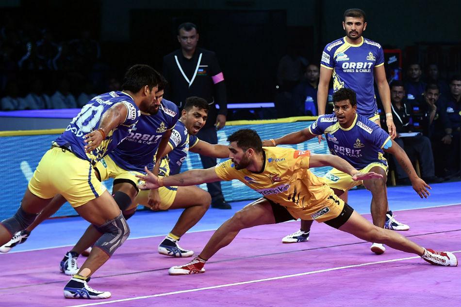 Pkl 2018 Rahul Chaudhari Shines As Telugu Titans Beat Tamil Thalaivas