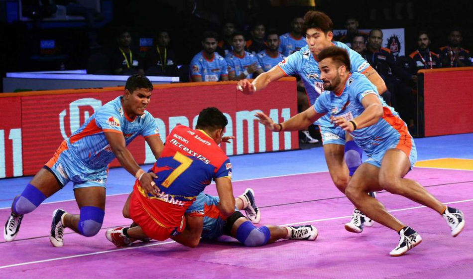 Bengal Warriors and U.P. Yoddha in action (Image: PKL website)