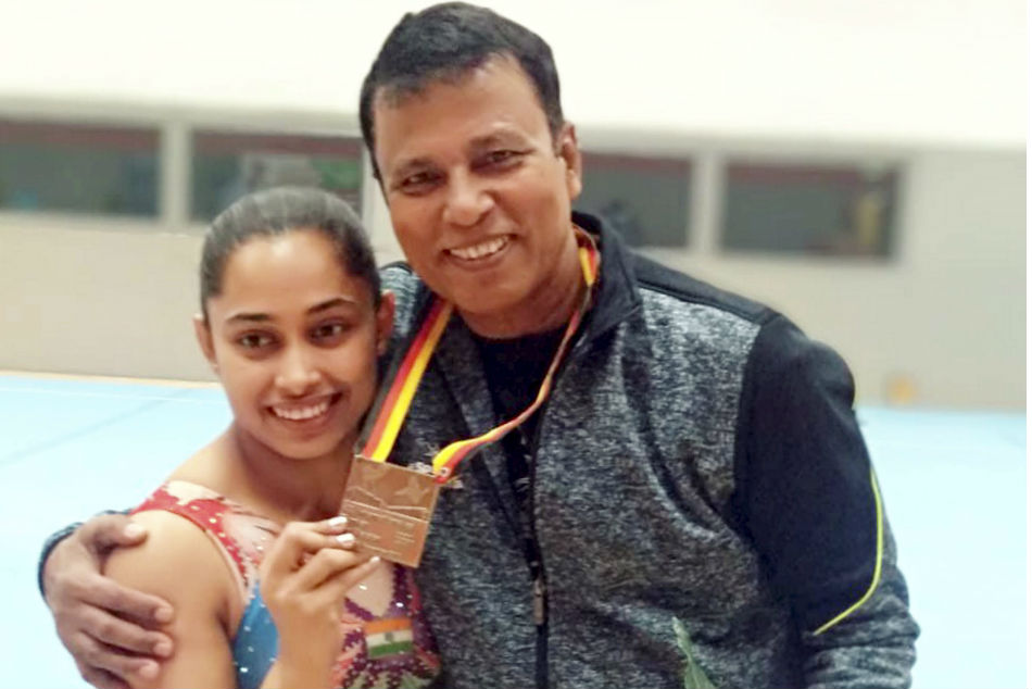 Indian gymnast Dipa Karmakar (left) and her coach Bisweswar Nandi were cleared by SAI for World Cup in Baku and Doha