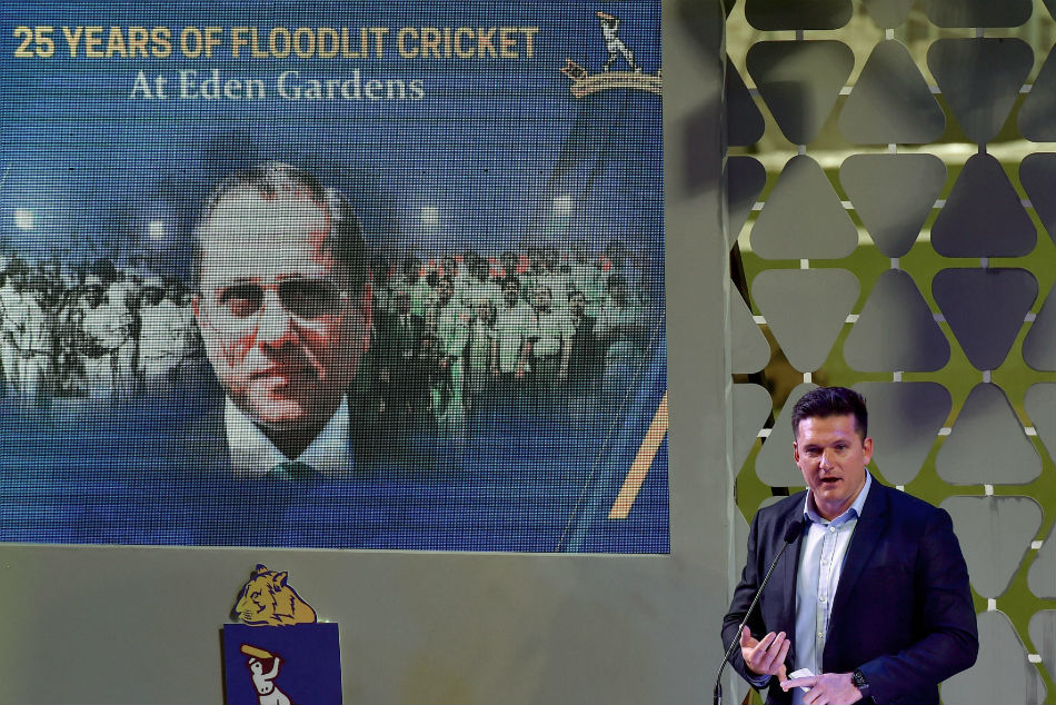 Former South Africa Captain Graeme Smith delivers Annual lecture of Jagmohan Dalmiya Conclave(Chapter II) at Eden Garden in Kolkata.