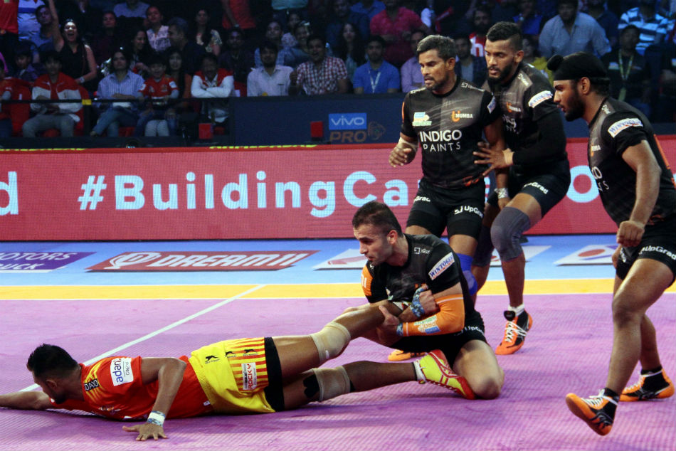 Pkl 2018 Gujarat Fortunegiants Register Super Comeback Win Over U Mumba