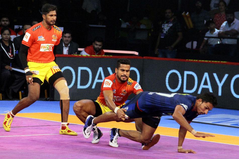 Pkl 2018 Gujarat Fortunegiants Register Comfortable 40 31 Win Over Haryana Steelers