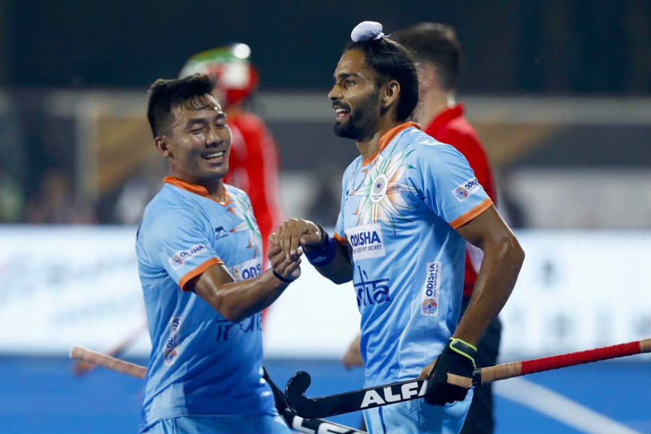 India beat South Africa 5-0 in the Hockey World Cup 2018 (Image: HI)