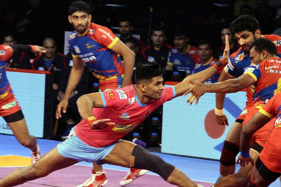 Pkl 2018 Hooda Pawar S Outstanding Raiding Gives Jaipur Pink Panthers Third Win