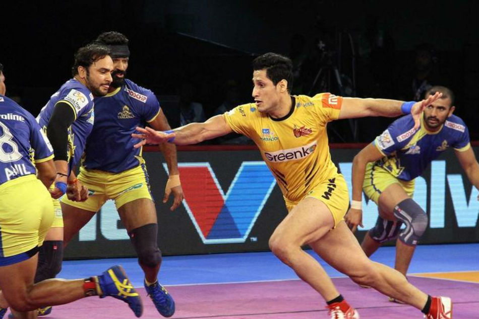 Pkl 2018 Tamil Thalaivas Come On Top Against Telugu Titans
