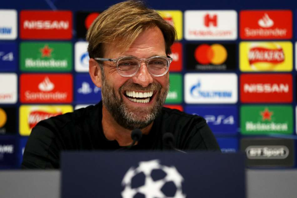 Liverpool face Paris Saint-Germain on Wednesday and Jurgen Klopp enjoyed an unexpected treat at his pre-match news conference.