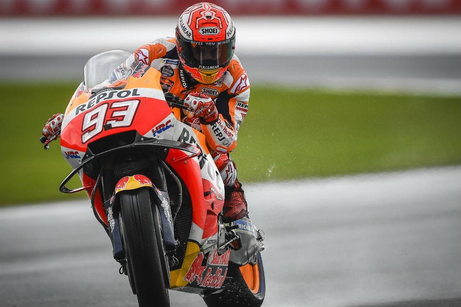 Marquez Masters Tough Conditions Top Practice Session