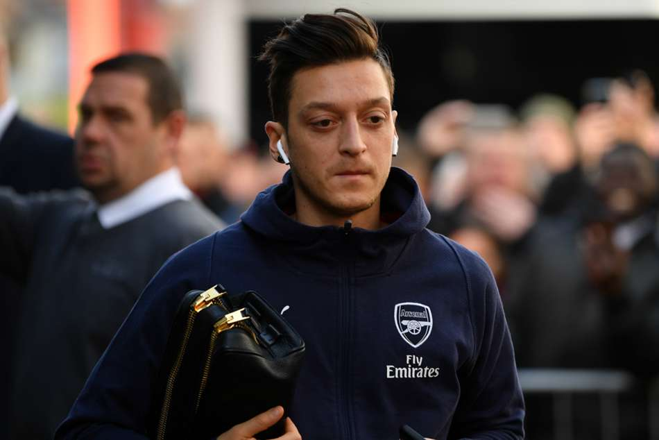 Mesut Ozil was an unused substitute in Arsenals 2-1 win over Bournemouth