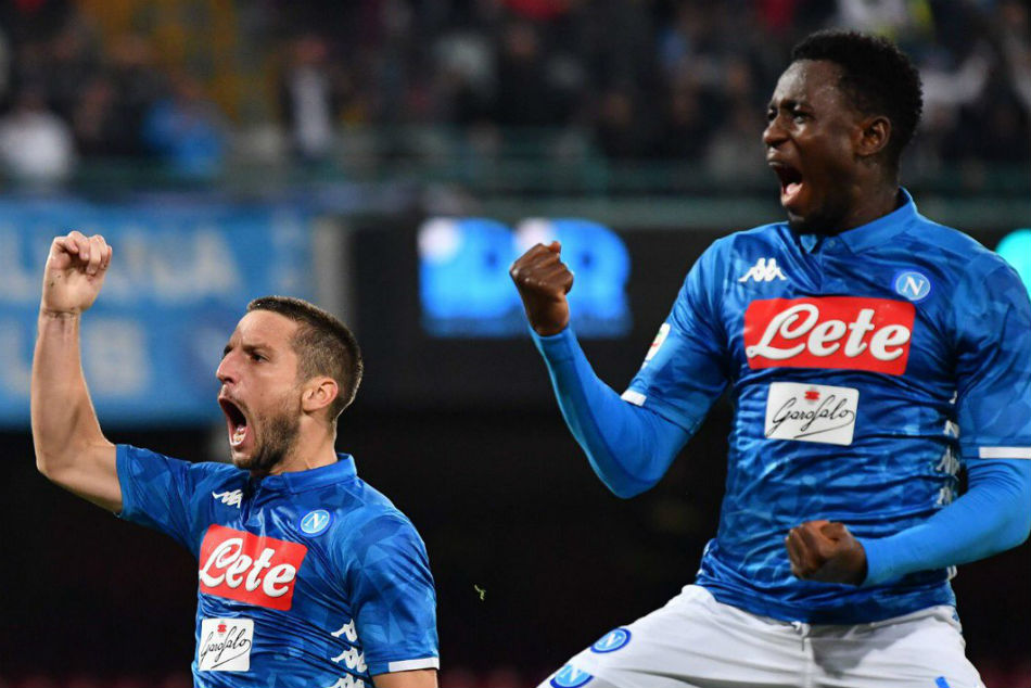 Mertens Shines Five Star Napoli With Hat Trick