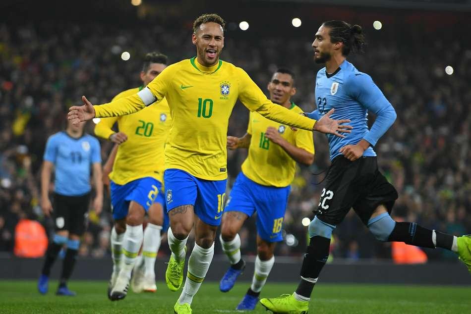 Brazil 1 Uruguay 0 Neymar Penalty