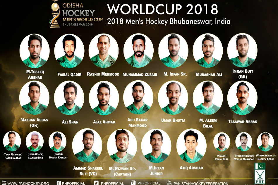 Hockey World Cup 2018 Pakistan Announce Squad
