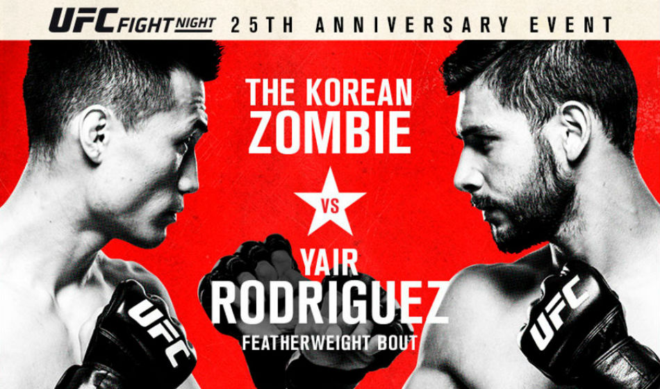 UFC Fight Night 139: Korean Zombie vs. Rodriguez poster