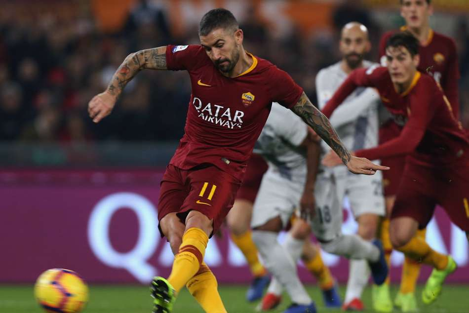 Romas Aleksandar Kolarov converted from the spot to level the match